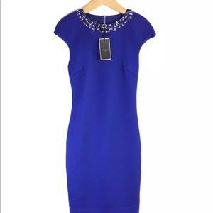 Ted Baker Elenna Embellished blue dress
